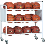 Double Wide Ball Cart for up to 24 Basketballs