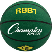 Champion Sports Official Men's Size Pro Rubber Basketball - Green
