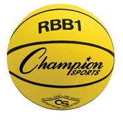 Champion Sports Official Men's Size Pro Rubber Basketball - Yellow