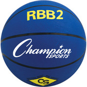 Champion Sports Junior Size Pro Rubber Basketball - Blue