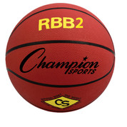 Champion Sports Junior Size Pro Rubber Basketball - Red