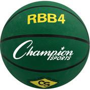Champion Sports Intermediate Size Pro Rubber Basketball - Green