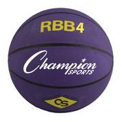 Champion Sports Intermediate Size Pro Rubber Basketball - Purple