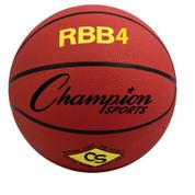 Champion Sports Intermediate Size Pro Rubber Basketball - Red