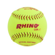 "11"" Softball Optic Yellow Synthetic Leather Cover - 47 Poly Core"