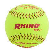 "12"" Softball Optic Yellow Synthetic Leather Cover - 47 Poly Core"
