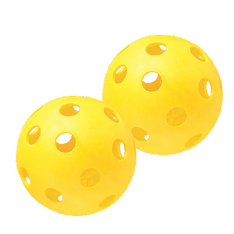 "Yellow Plastic Softball Set of 6 - 12"""