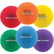 Assorted Color Rhino Foam No-Bounce Ball Set of 6