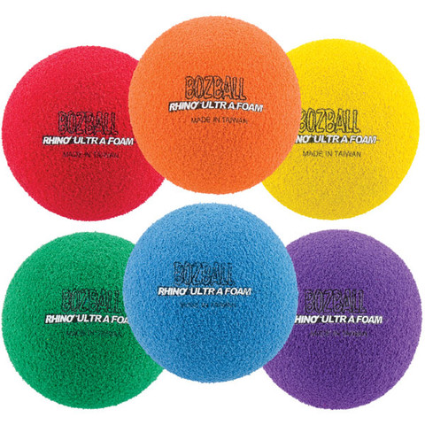 Assorted Color Rhino Foam No-Bounce Ball Set of 6