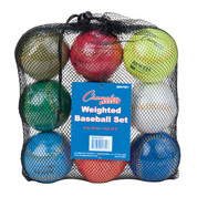 Weighted Training Baseball Set of 9 Assorted Colors