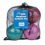 Weighted Training Softball Set of 4 Assorted Colors