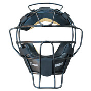 Ultra Lightweight Umpire Face Mask with EverClean Full Grain Leather Pads - Black