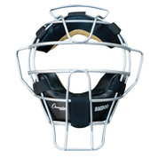 Ultra Lightweight Umpire Face Mask with DryTek Leather Pads for Fast Dry - Black