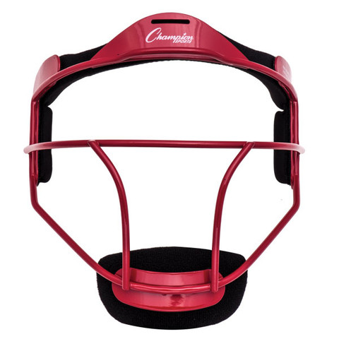 Red Adult Softball Fielder's Face Mask