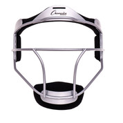 Silver Adult Softball Fielder's Face Mask