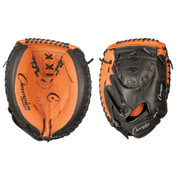 "Intermediate Leather Catcher's Mitt - 33"" - Black/Brown"