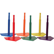Deluxe Multi-Color Adjustable Height Baseball Batting Tee Set
