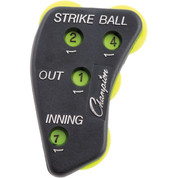 Plastic 4-Way Plastic Baseball Umpire Indicator - Strikes, Balls, Outs, Innings