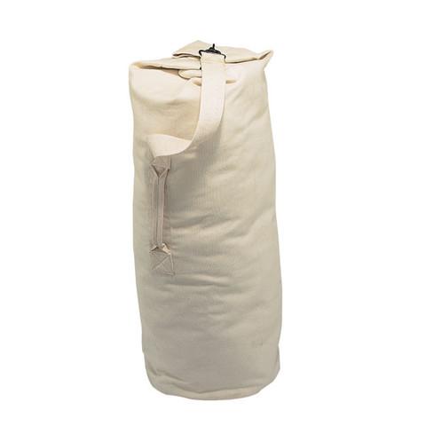 Beige Army 12 oz Canvas Duffle Bag