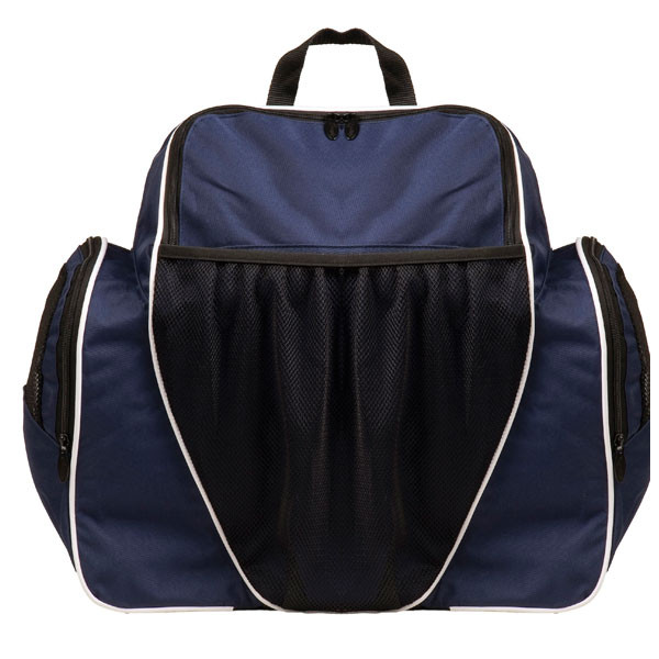 0b1c2d0b81b4 Navy Blue 600D Polyester Deluxe All Purpose Backpack - Head Coach Sports
