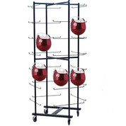 Rolling Football Helmet Rack - 56 Helmet Storage Rack