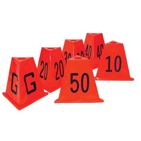 Flexdown Stackable Football Sideline Yard Marker Set