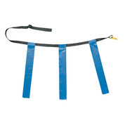 Royal Blue Adult XL Triple Flag Football Belt Set of 12