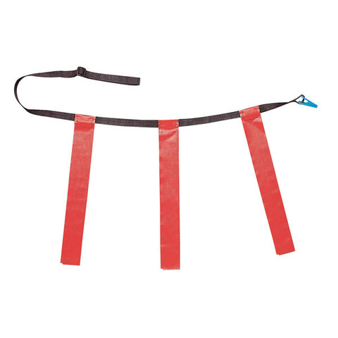 Red Adult XL Triple Flag Football Belt Set of 12
