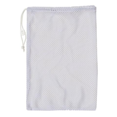 "White Drawstring Quick Dry Mesh Equipment Bag -12"" x 18"""