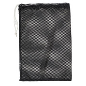 "Black Drawstring Quick Dry Mesh Equipment Bag -12"" x 18"""