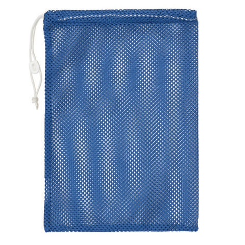 "Royal Blue Drawstring Quick Dry Mesh Equipment Bag -12"" x 18"""