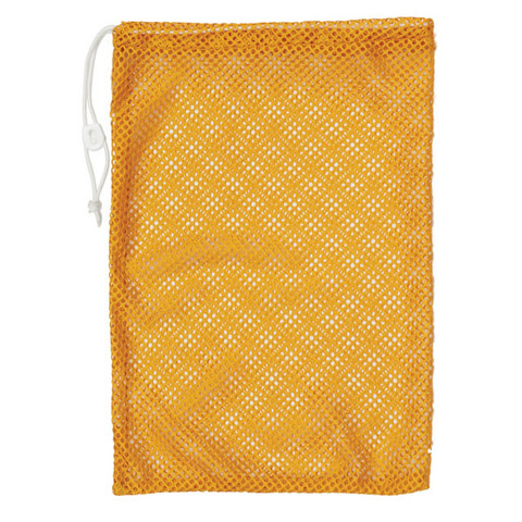 "Gold Drawstring Quick Dry Mesh Equipment Bag -12"" x 18"""