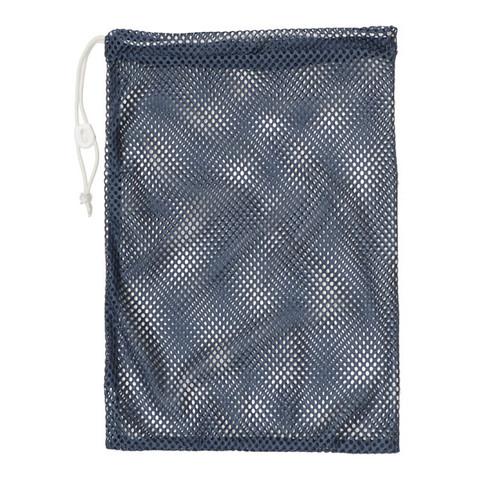 """Navy Blue Drawstring Quick Dry Mesh Equipment Bag -12"""" x 18"""""""