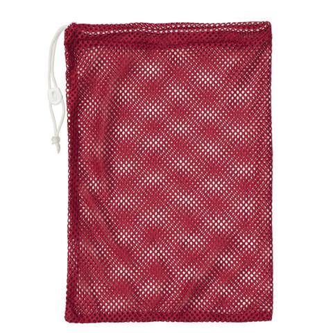 "Red Drawstring Quick Dry Mesh Equipment Bag -12"" x 18"""
