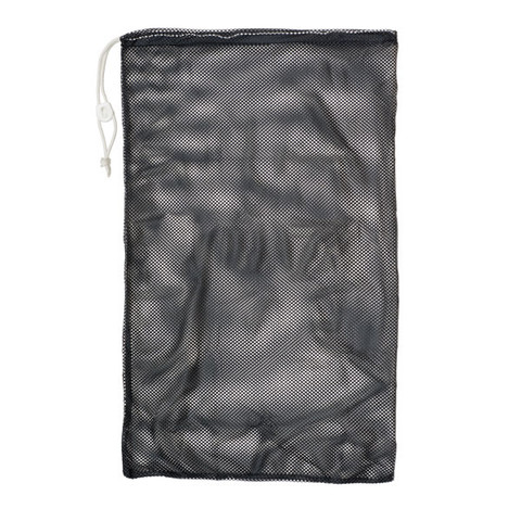 "Black Drawstring Quick Dry Mesh Equipment Bag - 24"" x 36"""