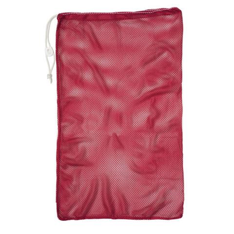 "Red Drawstring Quick Dry Mesh Equipment Bag - 24"" x 36"""