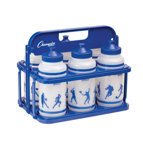 Collapsible Water Bottle Carrier and 6 Watter Bottle Set