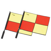 Official Soccer Linesmen Checkered Flags with Border