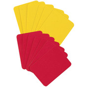Soccer Referee Player Card Set, Yellow, Red