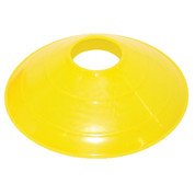 "Champion Sports 12"" Large Yellow Disc Sports Cone"