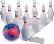 Indoor/Outdoor Complete Rubber and Plastic Bowling Set
