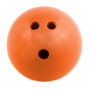 Plastic Rubberized Training Bowling Ball, Orange, 3lb