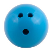 Plastic Rubberized Training Bowling Ball, Blue, 4lb