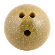 Plastic Rubberized Training Bowling Ball, Yellow, 5lb