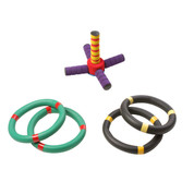Kids Eye-Hand Coordination Foam Ring Toss Game Set