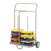 Steel PE Games Scooters Storage Cart