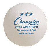CTTA Approved Tournament Table Tennis Balls Set of 6
