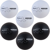 Rhino Skin� Non-Sting Soft Foam Dodgeball Set - Black, White