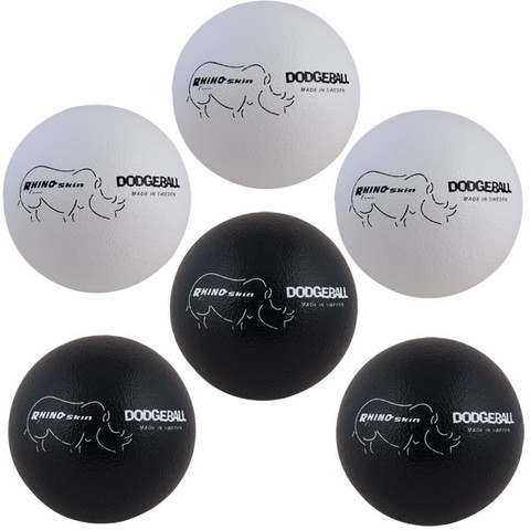 Rhino Skin� Soft Foam Dodgeball Set - Black, White