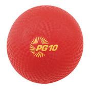 Multipurpose School Recess Playground Ball 10in Red